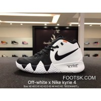 New Release Nike Kyrie Off-White 4X18 Spring Kyrie Ep Owen Creative To Be Customized Men Basketball Sports Shoes Combat Weapon Light Combat Coding Real Air Jordan 16 91 100