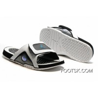 Jordan Hydro 13 Slide Sandals White Black Blue Top Deals HpZ6Y