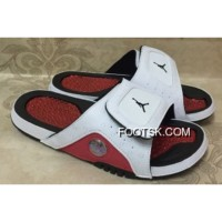 For Sale Jordan Hydro 13 Retro White Red Black Slide Sandals