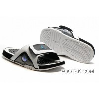 Air Jordan Hydro 13 Slide Sandals White Black Blue Free Shipping
