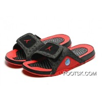 Authentic Air Jordan Hydro 13 Slide Sandals Black Red 2016