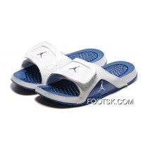 For Sale Air Jordan Hydro 12 Slide Sandals White French Blue