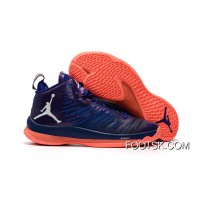 New Jordan Super.Fly 5 X Purple/Orange Men's Basketball Shoes Free Shipping R7h3DRD