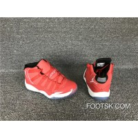 Kids Air Jordan 11 Varsity Red/Black-White For Sale