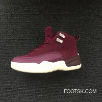 Kids Nike Air Jordan 12 Burgundy New Release