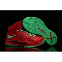 Nike Lebron 10 Kids Shoes Christmas Red/Green