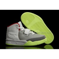 Nike Air Yeezy 2 Kids Shoes Wolf Grey/Pure Platinum