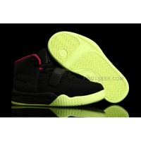 Nike Air Yeezy 2 Kids Shoes Black/Solar Red