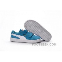 Kids Puma Shoes Light Blue