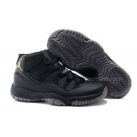 Charcoal Black And Gold Jordan 11 Men Basketball Shoes Free Shipping Free Shipping