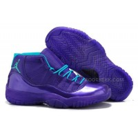 Cheap Men Jordan 11 Hornets Full Purple Teal New Arrival