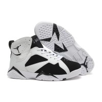 White And Black New Jordan 7 Basketball Shoes 2015 Hot Sale Free Shipping