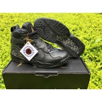 Men Air Jordan 8 Championship Black
