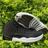 Men PSNY x Air Jordan 12 Black White