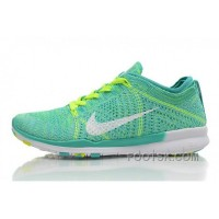 2015 Release Nike Free Flyknit 5.0 Knit Vamp Mens Running Shoes Green Yellow New Style