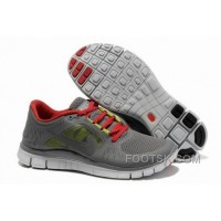 Mens Nike Free 5.0 V3 Carbon Grey Red Running Shoes Authentic