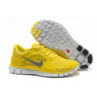 Mens Nike Free 5.0 V3 Yellow Silver Running Shoes New Style