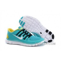 Nike Free 5.0 Mens Blue Yellow Black Running Shoes New Style