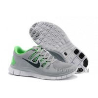 Nike Free 5.0 Mens Grey Fluorescence Green Running Shoes Best