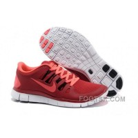 Nike Free 5.0 Mens Red Pink Running Shoes New Release