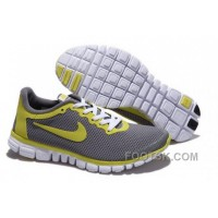 Mens Nike Free Run 3.0 V2 Grey Yellow Running Shoes For Sale