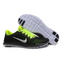 Mens Nike Free Run 3.0 V6 Black Fluorescent Green Running Shoes Authentic