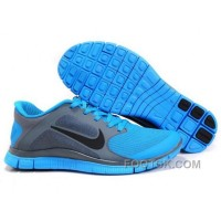 Mens Nike Free Run 4.0 V3 Grey Blue Running Shoes New Style