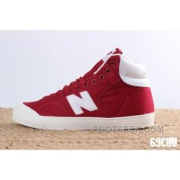 New Balance Pro-Court Canvas Mid Red White