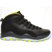 Air Jordan 10 Venom Green Black Cool Grey Venom Green Shoes