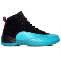 Air Jordan 12 Gamma Blue Black Varsity Red Gamma Blue White Shoes