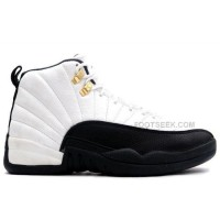 Air Jordan 12 XII Original OG Taxi White Black Shoes