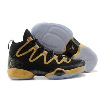 Air Jordan 28 Black Gold Shoes Features Whole Foot Zoom Sneaker Men