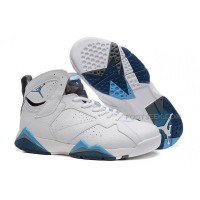 Air Jordan 7 Retro French Blue White French Blue University Blue Flint Grey 304775 107 Mens Shoes