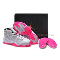 Nike Air Jordan 11 XI Retro Silver Pink Basketball Shoes Womens Sneakers