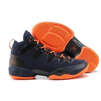 Air Jordan 28 Dark Blue Orange Shoes Features Whole Foot Zoom Sneaker Men