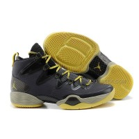 Air Jordan 28 Black Yellow Shoes Features Whole Foot Zoom Sneaker Men