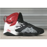 Nike Air Jordan 7 Retro Dave White Custom Basketball Sneakers Mens Shoes