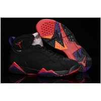 Air Jordan 7 VII Retro Basketball Sneakers Black Red Purple Yellow Mens Shoes