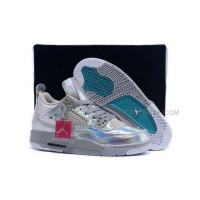 Nike Air Jordan 4 Retro 30Th Go Womens Silver White Coat Of Paint Sneakers AJ Basketball Shoes