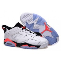 Nike Air Jordan 6 Low Sneakers White Infrared Basketball Shoes