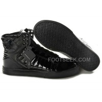 New Arrival Supra Skytop All Black Men's Shoes