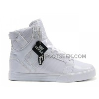 New Arrival Supra Skytop All White Men's Shoes