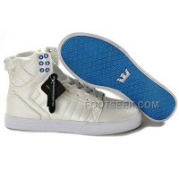New Arrival Supra Skytop Beige Blue Men's Shoes