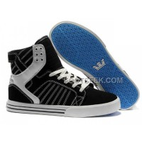 New Arrival Supra Skytop Black Blue Sole Men's Shoes