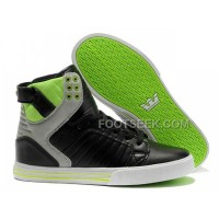 New Arrival Supra Skytop Black Green Grey Men's Shoes