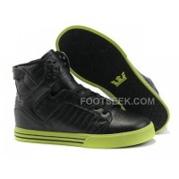 New Arrival Supra Skytop Black Green Men's Shoes