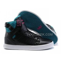 New Arrival Supra Skytop Black Green Pink Men's Shoes