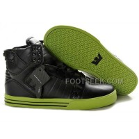 New Arrival Supra Skytop Black Green Shoes Men's Shoes