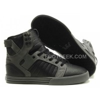 New Arrival Supra Skytop Black Grey Bump Men's Shoes