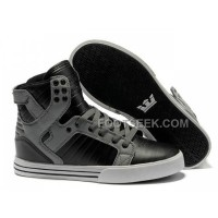 New Arrival Supra Skytop Black Grey Men's Shoes